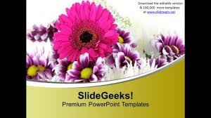 Flower Powerpoint Blooming Flowers Beauty Of Nature Powerpoint Templates Ppt