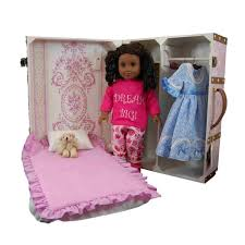 Doll Storage Trunk & Bed For 18