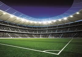 Voetbal Behang Stadion 2 Vliesbehang 368x254 Cm