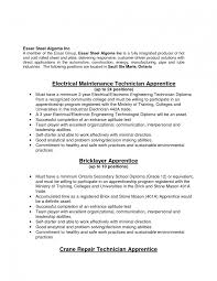 Millwright Resume Sample Cover Letter Job Resume 24 Electrician Helper Millwright Apprentice Ex Sevte 10