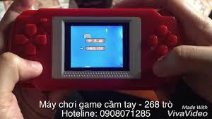 Trên tay máy chơi game cầm tay 268 trò chơi - YouTube