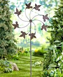 large garden wind spinners hummingbird garden wind spinner stake over 5 tall garden decor large metal large garden wind spinners