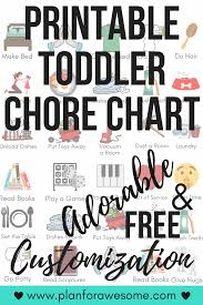 Free Printable Toddler Chore Chart With Free Personalization