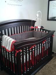tractor crib bedding set red trim and crib skirt with grey and black custom crib bedding tractor crib bedding set