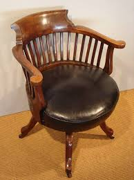 antique office chair. antique mahogany swivel desk chair / office c