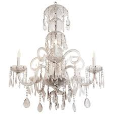 1940s waterford marie therese style crystal chandelier with five candles for