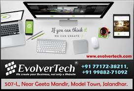 Web Designing In Jalandhar Best Web Designing Agency In Jalandhar Evolvertech