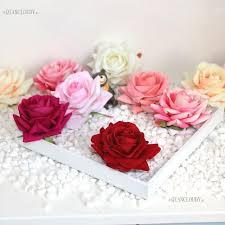 20 pieces artificial diamond rose velvet silk flower heads bridal wedding decoration wall car diy wreath table flowers d44 artificial dried flowers