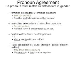 Pronoun Antecedent Agreement Pronoun Antecedent Agreement Quiz Theroar Club