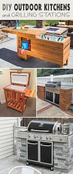 simple diy outdoor kitchen with wood frame plans beautiful diy outdoor kitchens and grilling stations