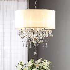 Endearing Dining Room Luxury Overstock Chandelier for Home Lighting Ideas  In Drum Chandelier with Crystals ...