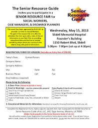 Vendor Registration Form For Senior Resource Fair Smh Protected