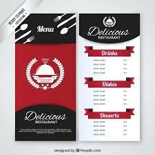 Template Restaurant Menu Design Templates Free Download Psd