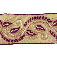 Decorative Fabric Trim Decorative Fabric Trim Indian Sewing Material 76 Cm Wide Crafting