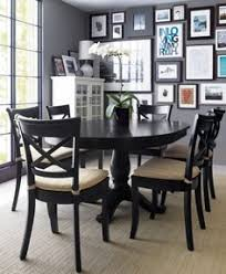 avalon 45 black round extension dining table dinning room tablesdinning settable and chairsdining