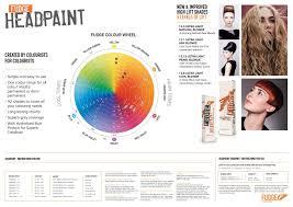 Fudge Hair Dye Colour Chart Fudge Headpaint Salon Wall Chart In 2019 Fudge Hair Manic
