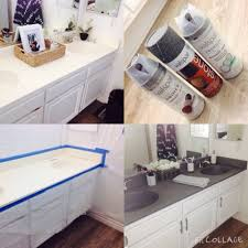 Paint Counter Top Diy Painting Bathroom Countertops Using Stone Spray Paint