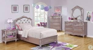 Caroline Metallic Lilac Youth Platform Bedroom Set