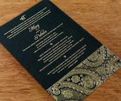 make a statement foil stamped indian wedding cards letterpress Wedding Invitation Cards Sikh sikh black with gold foil paisley wedding invitation sikh wedding invitation cards wordings