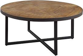 There are 3630 round wood coffee table for sale on etsy, and they cost 329,65 $ on average. Amazon Com Emerald Home Denton Antique Pine Coffee Table With Round Pieced Top And Metal Base Furniture Decor