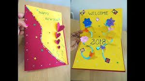 Diy New Year Pop Up Card How To Make New Year Card Easily Card Making Ideas Tutorial Steps