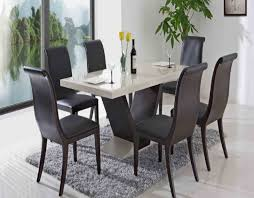 round back dining chairs contemporary dining room set four black leather dining chair