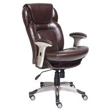 serta back in motion health wellness eco friendly bonded leather mid back office chair frye chocolate hayneedle