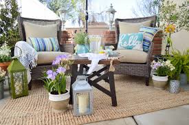 summer outdoor furniture. Small Space Patio Decorating Ideas With Really Comfortable Outdoor Furniture Www.foxhollowcottage.com # Summer