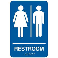 restroom signs. Delighful Restroom Restroom  California Code Economy Signs Throughout