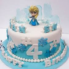 Customised Frozen Princess Elsa Cake Kidiparty