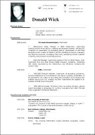 Photography Resume Templates Extraordinary Format Of Resume Simple Free Student Resume Templates