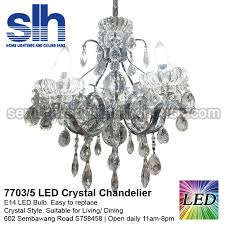cc1 7703 5 b crystal chandelier led semba