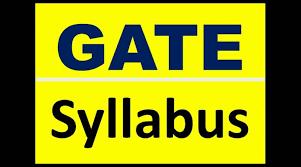 GATE SYLLABUS 2018