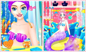mermaid princess makeup salon apk screenshot