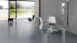 large glass office desk. Incredible Large Glass Desk Regarding Office Modern All Clear With White Chair I
