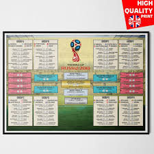 World Cup 2018 Wall Chart Details About Russia World Cup Football Wall Chart 2018 A3 A2
