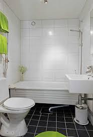 Square and rectangular tiles Charming White Small Bathroom Design ...