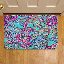 fl tropical pattern lilly pulitzer 910 door mat rug carpet doormat doorsteps foot pads