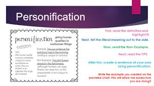 figurative language an independent study ppt video online 21 personification first