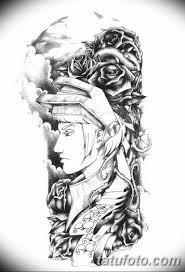 черно белый эскиз тату рукав на руку 11032019 055 Tattoo Sketch