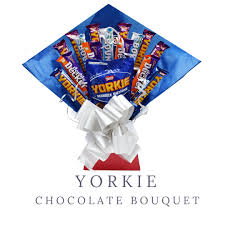 yorkie chocolate bouquet double decker bounty fathers day gift gifts for dad