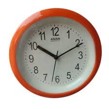 asian og orange mini wall clock