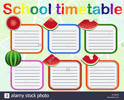 Graphic Design Timetable School Timetable A Weekly Curriculum Design Template