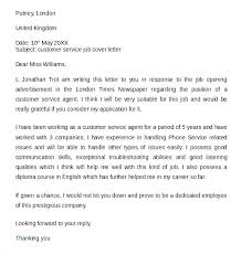 Patient Service Representative Cover Letter Bank Customer Service