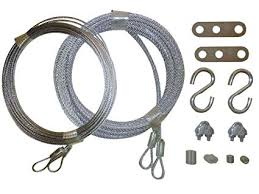 garage door cable replacement kit two 3 32 inch x 14 foot long and
