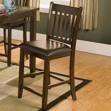 mission style bar stools.  Style Wooden Counter Stool With Missionstyle Back And Cushioned Seat On Mission Style Bar Stools R