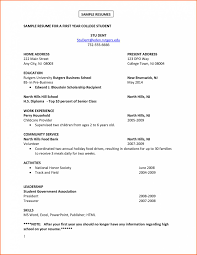 Sample Resume No Experience College Student Awesome College Student