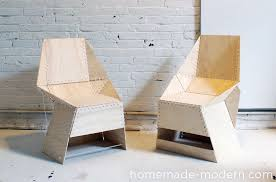 modern plywood furniture. homemade modern diy ep21 the zipstich chair options plywood furniture