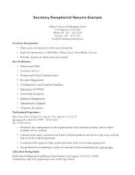Medical Receptionist Cover Letter Samples Sample Healthcare Resume