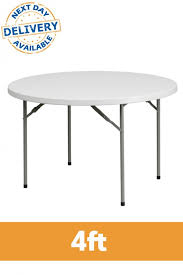 4ft round plastic folding table